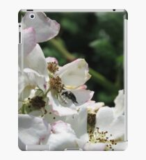 White flower and bug iPad Case/Skin