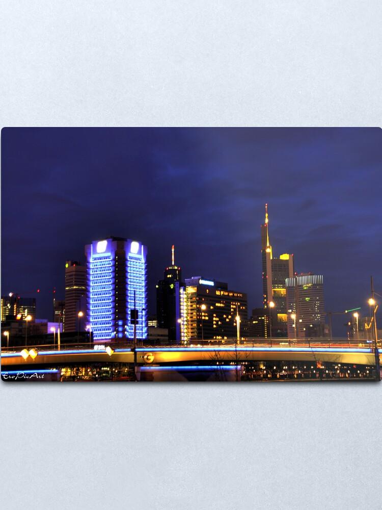 Alternate view of Frankfurt Skyline Metal Print