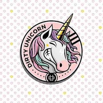 Dirty Unicorn Profile and XO Kiss and Love Hug Pattern by dirtyunicornmsc