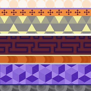 Multi Coloured Geometric Patterns  by ILoveTheQuirky