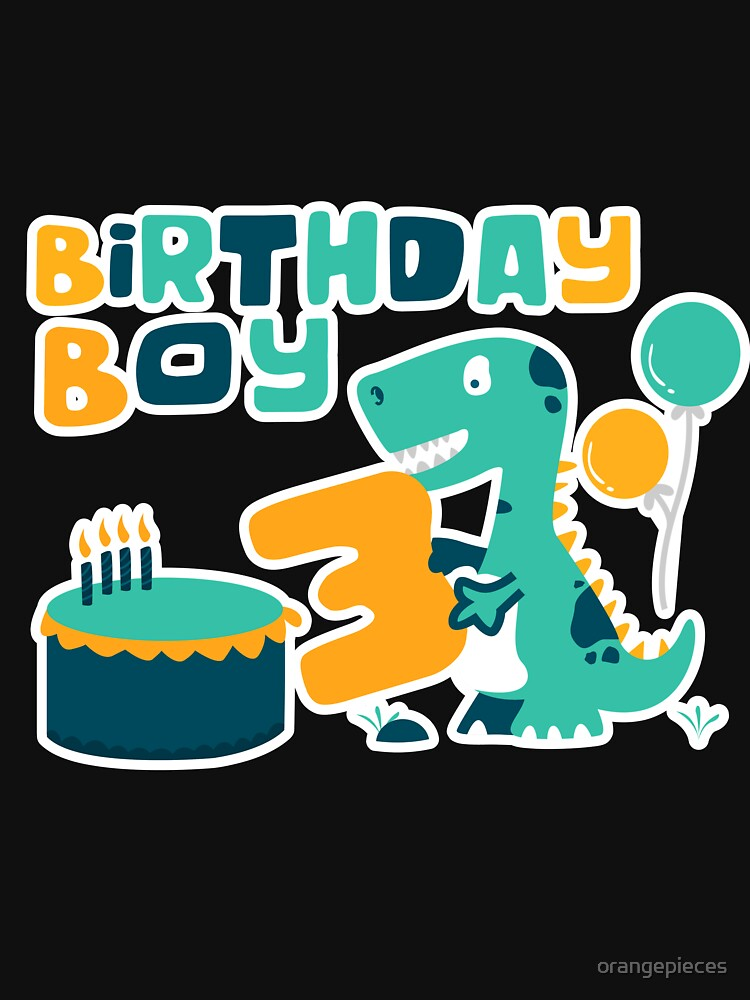 3rd Birthday Boy Dinosaur Party By Orangepieces