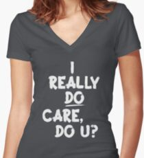 I Really Do Care Women's Fitted V-Neck T-Shirt