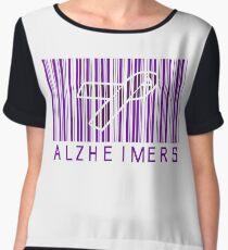 Bar Code Ribbon Alzheimers Awareness Chiffon Top