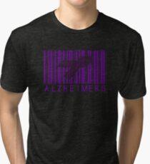 Bar Code Ribbon Alzheimers Awareness Tri-blend T-Shirt