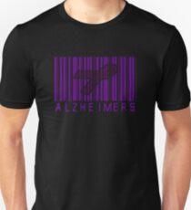 Bar Code Ribbon Alzheimers Awareness Unisex T-Shirt