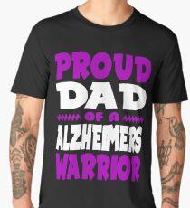Proud Dad of a Alzheimers Warrior! ALZ Awareness Men's Premium T-Shirt