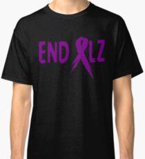 END ALZ Ribbon Alzheimers Awareness Classic T-Shirt