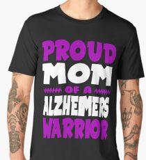 Proud Mom of a Alzheimers Warrior! END ALZ Awareness Men's Premium T-Shirt