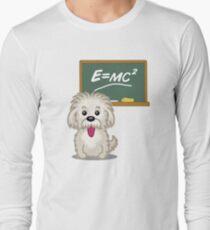 Maths Equation Einstein Shitsiu dog tshirt - Dog Gifts for Shihtzu and Maltese Dog Lovers Long Sleeve T-Shirt