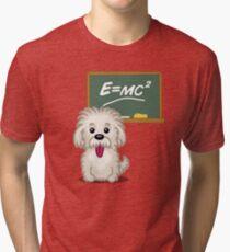Maths Equation Einstein Shitsiu dog tshirt - Dog Gifts for Shihtzu and Maltese Dog Lovers Tri-blend T-Shirt
