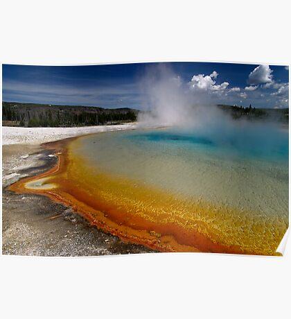 Sunset Lake - Black Sand Basin - Yellowstone Poster