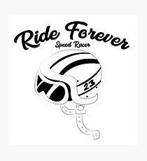 Retro motorcycle helmet Photographic Print