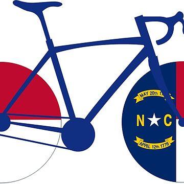 North Carolina Flag Cycling by esskay