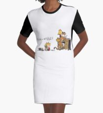 Calvin and Hobbes Graphic T-Shirt Dress