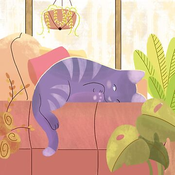Afternoon Cat Nap by MinetteMona