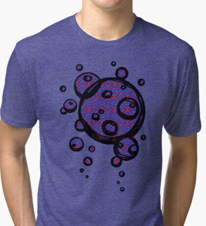 Patterned Hand-drawn bubbles Tri-blend T-Shirt