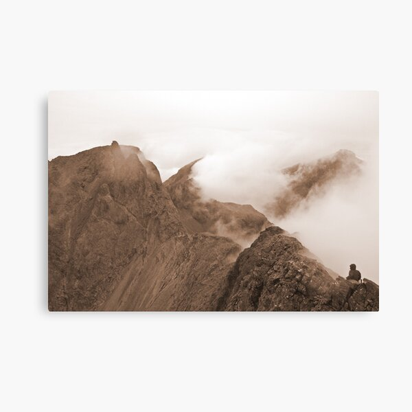 From Sgurr Mhic Choinnich Back to The Inaccessible Pinnacle, Skye Canvas Print