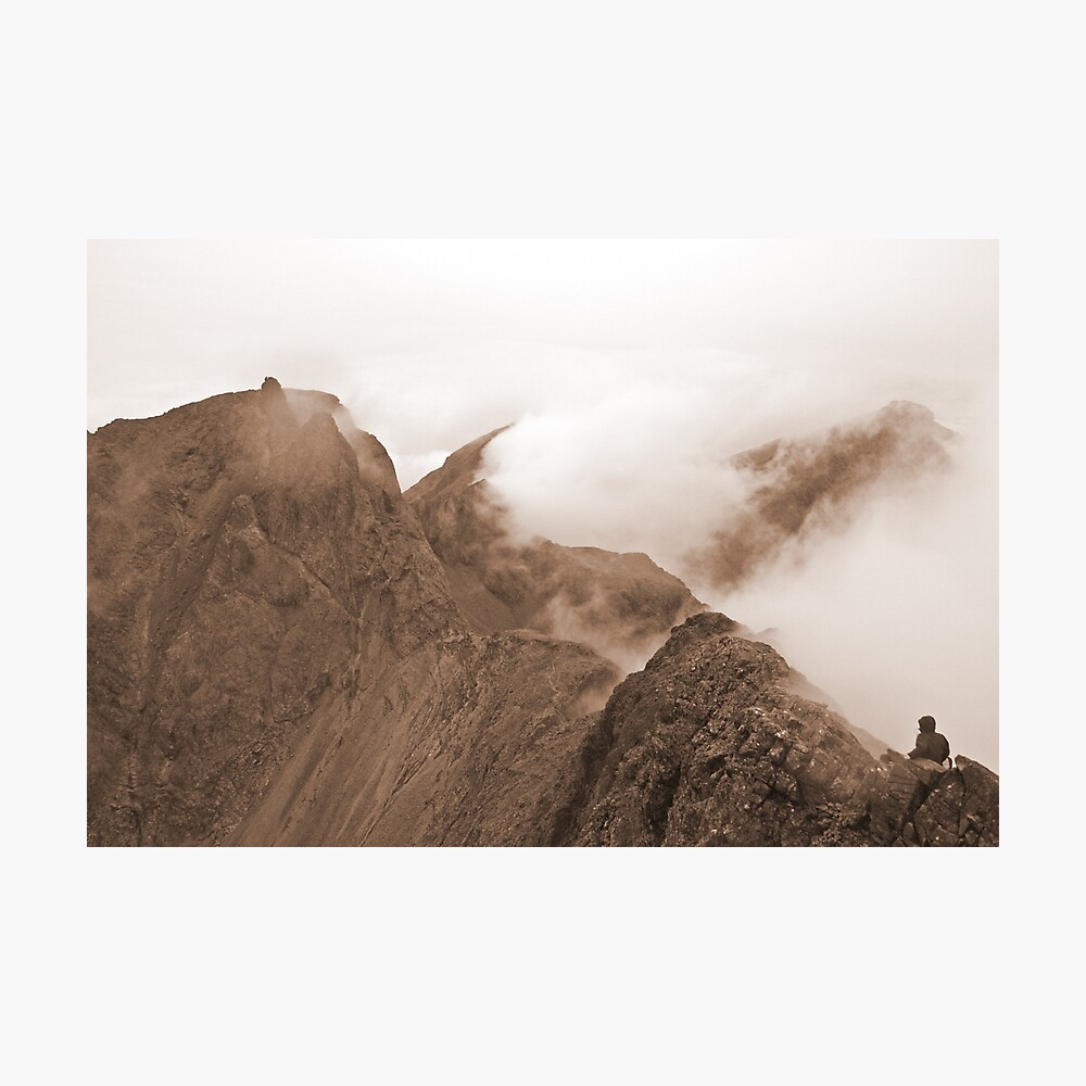 From Sgurr Mhic Choinnich Back to The Inaccessible Pinnacle, Skye Photographic Print