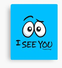 I See You - Cool Blue Canvas Print