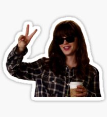 New Girl: hungover Jess Day Sticker