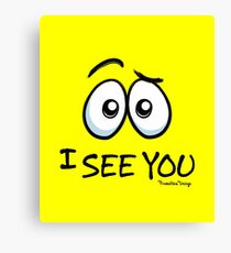 I See You - Electric Yellow Canvas Print