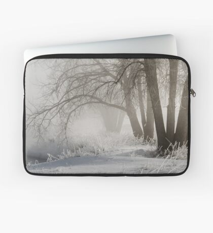 Etched By Snow - Sawhill Carvings Laptop Sleeve