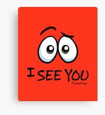 10 I See You - Atomic Orange Canvas Print