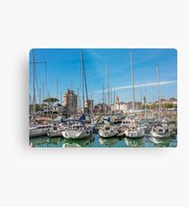 Yachts in the old port of La Rochelle  Metal Print