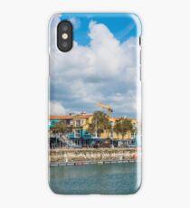 Seaside street in the port of La Rochelle, France iPhone Case