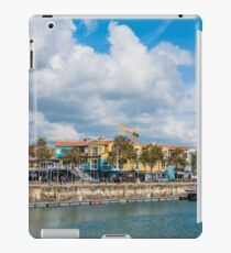 Seaside street in the port of La Rochelle, France iPad Case/Skin