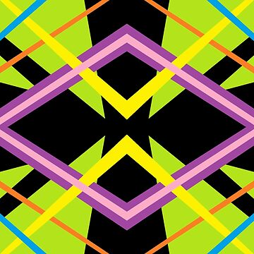 Funky Retro Looking Geometric Angular Seamless Abstract Pattern by EverhartArt