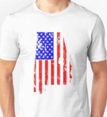Alabama am 4. Juli Flaggen-T-Shirt Slim Fit T-Shirt