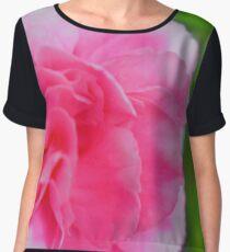 bright pink flower Chiffon Top