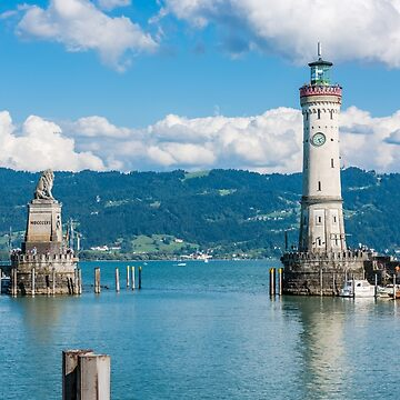 Lighthouse of Lindau at lake Constance, Bodensee by dvoevnore