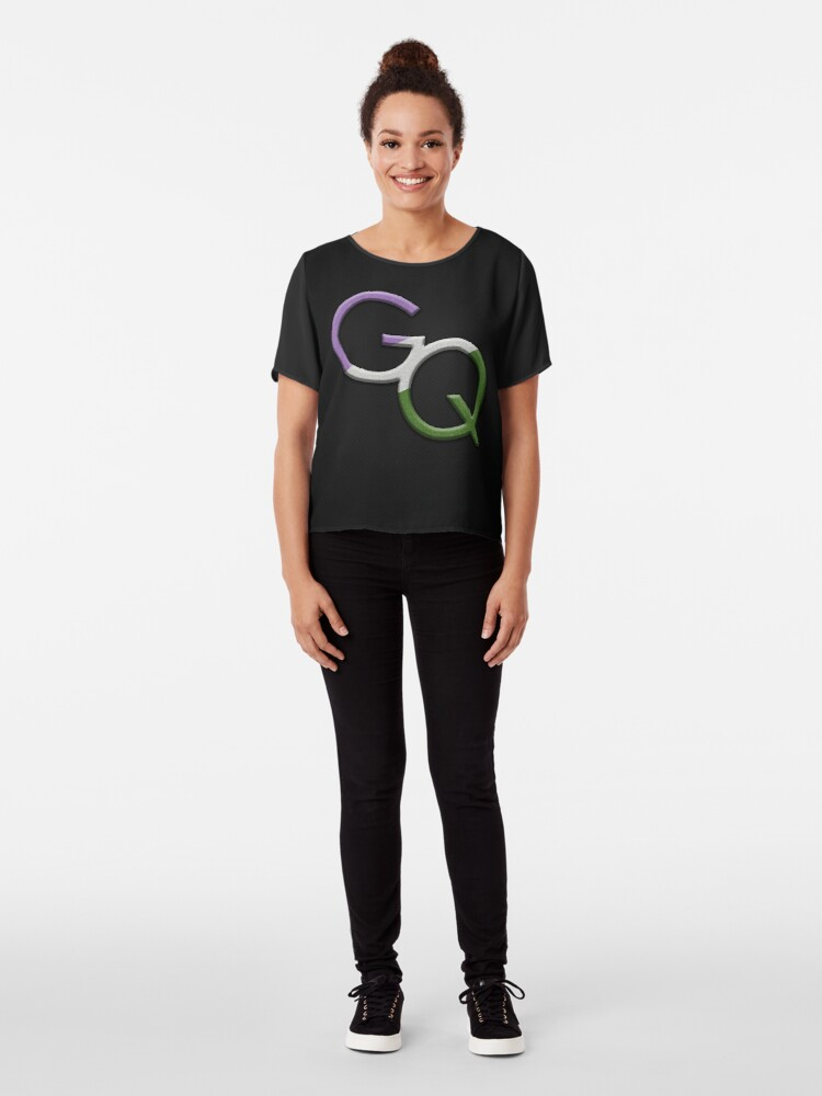 Alternate view of Genderqueer Symbol Chiffon Top