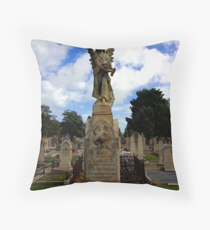 One of the angels of West Terrace Throw Pillow
