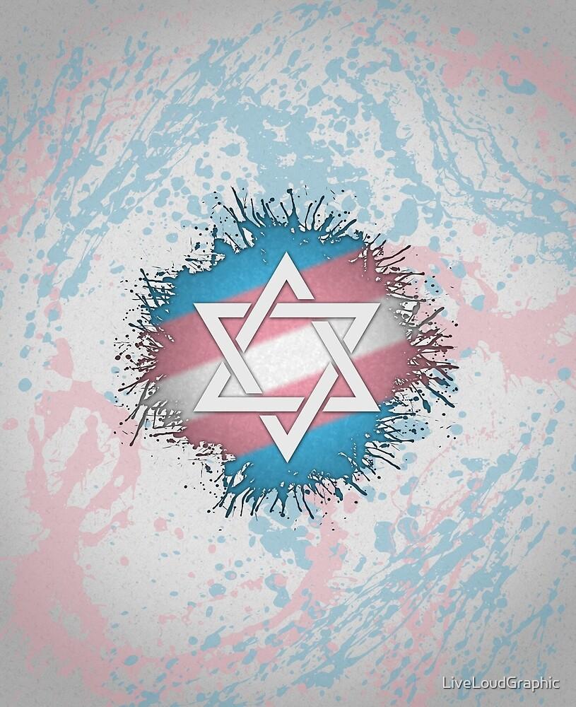 Transgender Star of David by LiveLoudGraphic