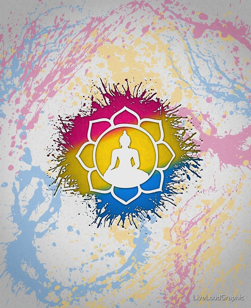 Pansexual Pride Lotus by LiveLoudGraphic