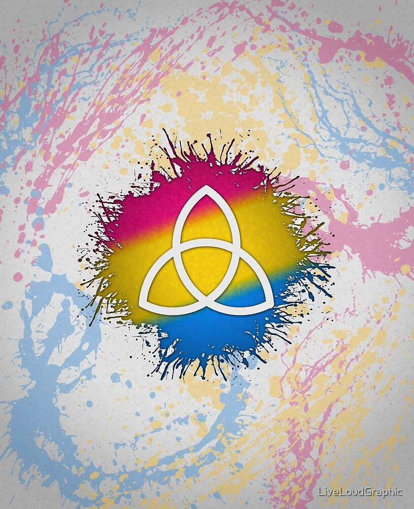 Pansexual Pride Triquetra by LiveLoudGraphic