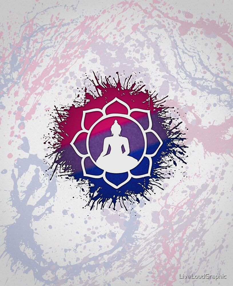 Bisexual Pride Lotus by LiveLoudGraphic