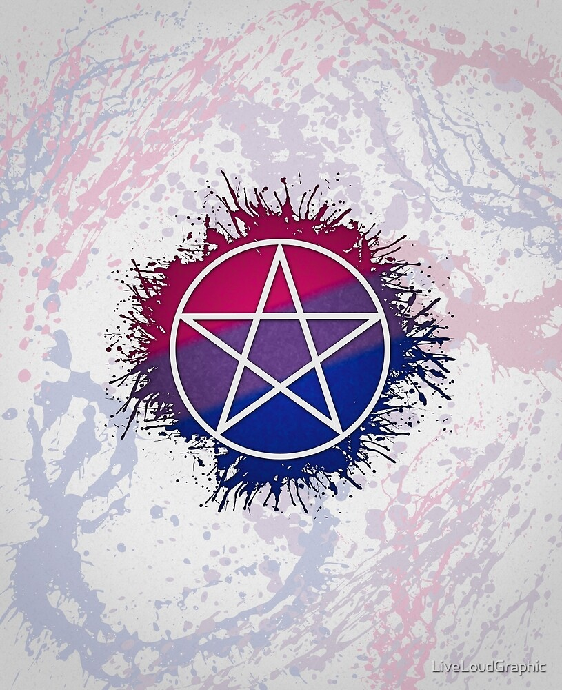 Bisexual Pride Pentacle by LiveLoudGraphic