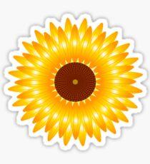 sunflower gold Sticker
