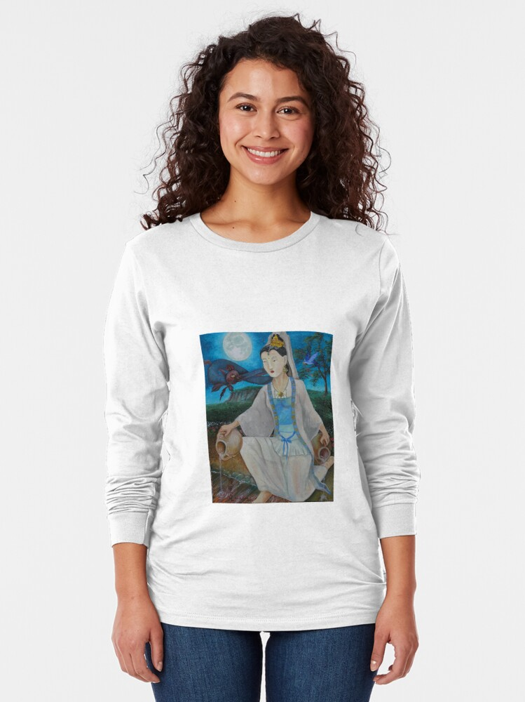 Alternate view of Quan Yin, Jewel In the Lotus  Long Sleeve T-Shirt