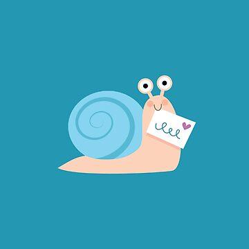 Blue snail mail by petitspixels