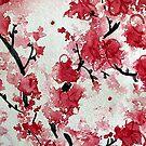 Sakura Blossoms in Watercolor by JMarielle
