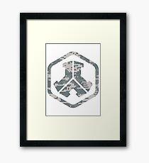 Defqon.1 logo camo Framed Print