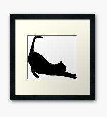 Cat Stretch Framed Print
