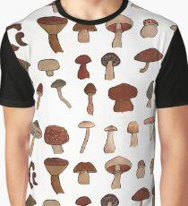 Mushroom Study Graphic T-Shirt