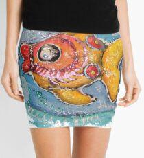 Bunter Fisch Malerei Minirock