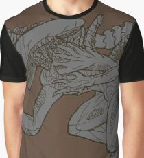 Monochromatic Alien Graphic T-Shirt